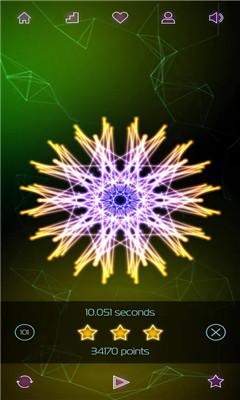 休闲3D折线游戏《折线3D》荧光线条打造美丽的图形