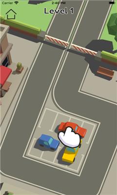 有趣的倒车入库游戏《停车卡纸》小车平稳的倒入车位