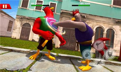 横板格斗游戏《功夫鸡大战》华丽的街机连招打败对手