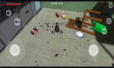 飞行射击游戏《消灭蟑螂》驾驶战机消灭巨型蟑螂