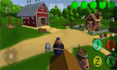 卡通复古塔防手游《小猪战争》保护自己的猪舍